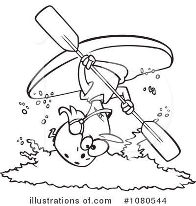 Kayaking Clipart 1080544 Illustration By Toonaday