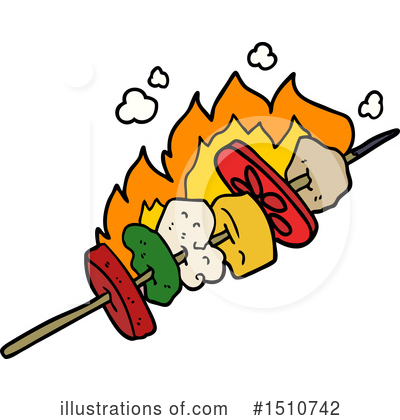 Royalty-Free (RF) Kebab Clipart Illustration by lineartestpilot - Stock Sample #1510742