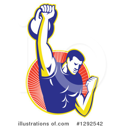 Weightlifting Clipart #1292542 by patrimonio