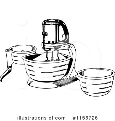 Royalty-Free (RF) Kitchen Clipart Illustration by BestVector - Stock Sample #1156726