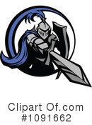 Knight Clipart #1091662 by Chromaco