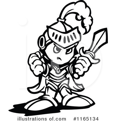 Knight Clipart #1165134 - Illustration by Chromaco