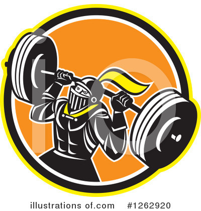 Weightlifting Clipart #1262920 by patrimonio