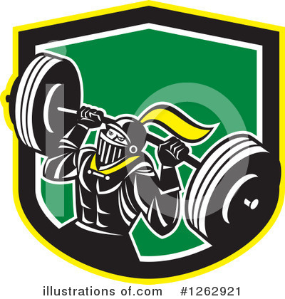 Weightlifting Clipart #1262921 by patrimonio