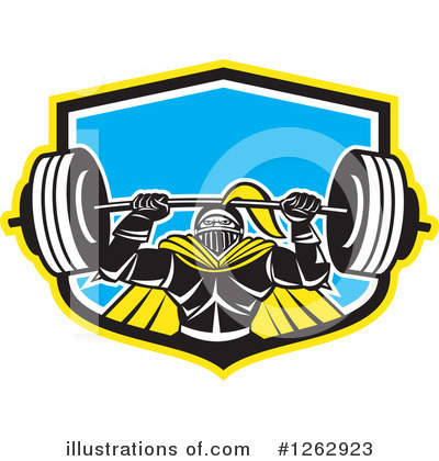 Weightlifting Clipart #1262923 by patrimonio