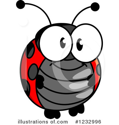 Ladybug Clipart #1232996 by Vector Tradition SM