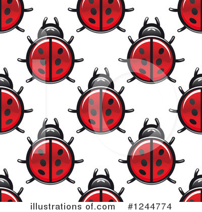 Ladybug Clipart #1244774 by Vector Tradition SM