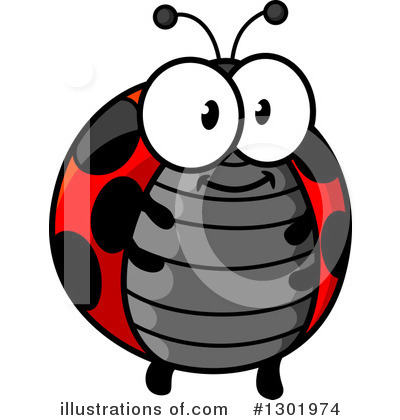 Ladybug Clipart #1301974 by Vector Tradition SM