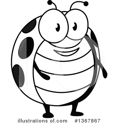 Ladybug Clipart #1367867 by Vector Tradition SM