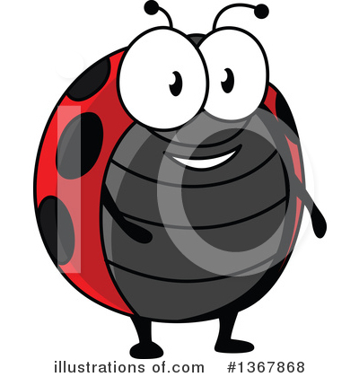 Ladybug Clipart #1367868 by Vector Tradition SM
