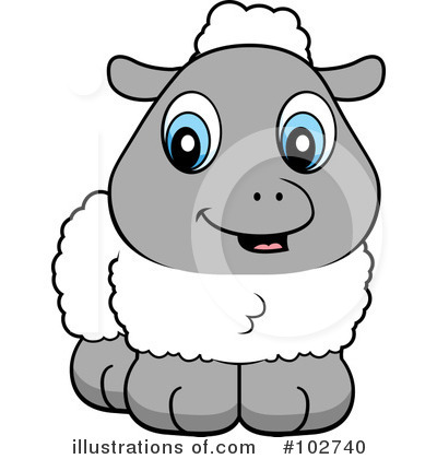 Royalty Free (RF) Lamb Clipart Illustration #102740 By Cory Thoman
