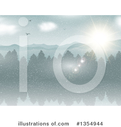 Winter Clipart #1354944 by KJ Pargeter