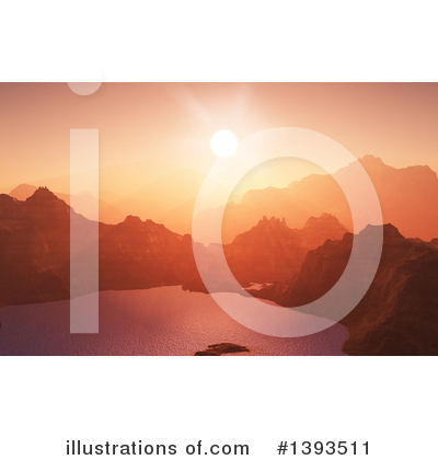 Mountains Clipart #1393511 by KJ Pargeter