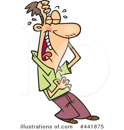 Laughing Clipart #441875 - Illustration by Ron Leishman
