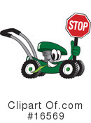 Lawn Mower Clipart #16569 by Toons4Biz