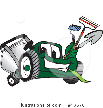 Royalty-Free (RF) Lawn Mower Clipart Illustration by Toons4Biz - Stock Sample #16570