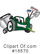 Lawn Mower Clipart #16570 by Toons4Biz