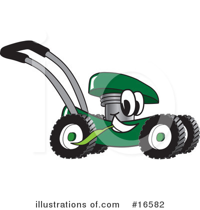 Lawn Mower Clipart #16582 by Toons4Biz