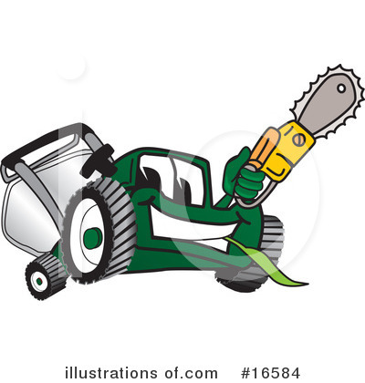 Lawn Mower Clipart #16584 by Toons4Biz