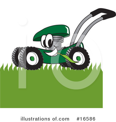 Lawn Mower Clipart #16586 by Toons4Biz