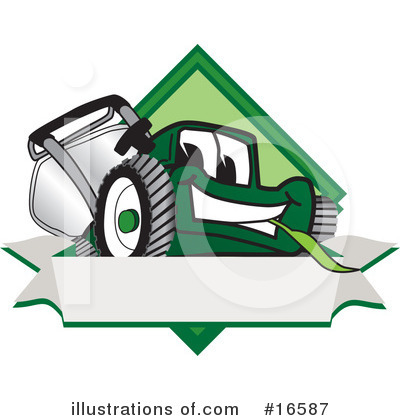 Lawn Mower Clipart #16587 by Toons4Biz