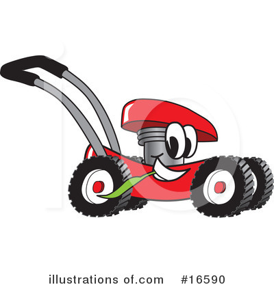 Lawn Mower Clipart #16590 by Toons4Biz