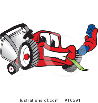 Lawn Mower Clipart #16591 by Toons4Biz