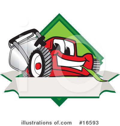 Lawn Mower Clipart #16593 by Toons4Biz