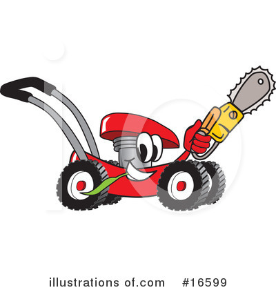 Lawn Mower Clipart #16599 by Toons4Biz