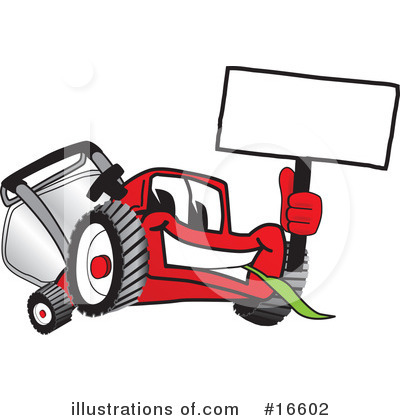 Lawn Mower Clipart #16602 by Toons4Biz