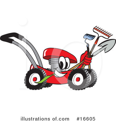 Lawn Mower Clipart #16605 by Toons4Biz