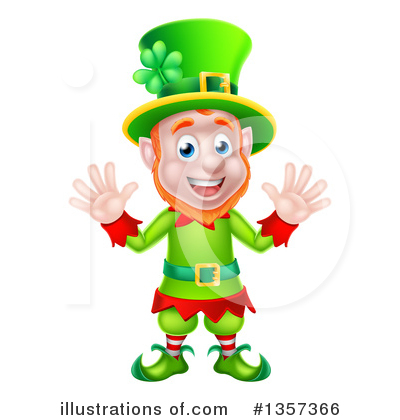 Leprechaun Clipart #1357366 by AtStockIllustration