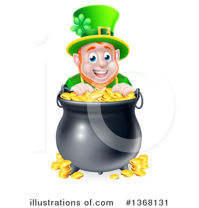 Leprechaun Clipart #1368131 by AtStockIllustration