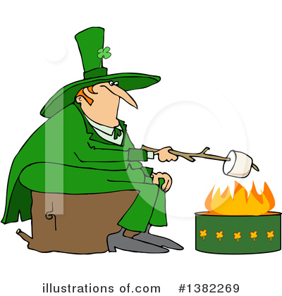 Royalty-Free (RF) Leprechaun Clipart Illustration by djart - Stock Sample #1382269