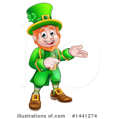 Leprechaun Clipart #1441274 by AtStockIllustration