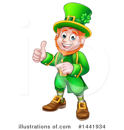 Leprechaun Clipart #1441934 by AtStockIllustration
