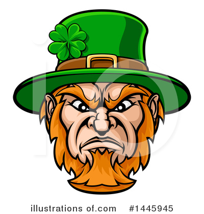 Leprechaun Clipart #1445945 by AtStockIllustration