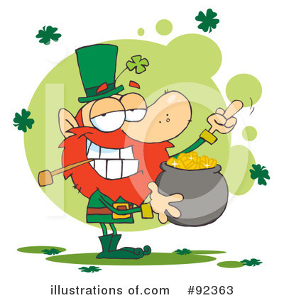 Leprechaun Clipart #92363 - Illustration by Hit Toon
