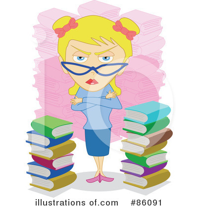 Librarian Clipart #86091 - Illustration by mayawizard101