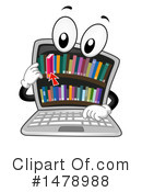 Library Clipart #1478988 by BNP Design Studio