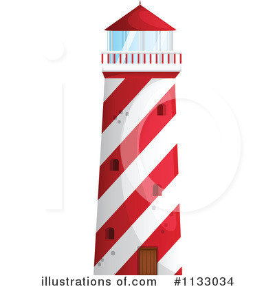 Lighthouse Clipart #1133034 - Illustration by colematt