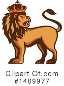 Lion Clipart #1409977 by patrimonio