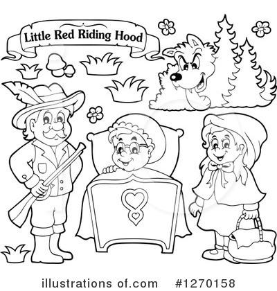 Little Red Riding Hood Clipart 1270158 Illustration By Visekart