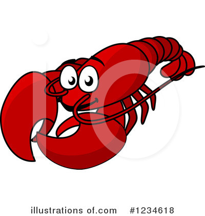 Lobster Clipart #1234618 by Vector Tradition SM