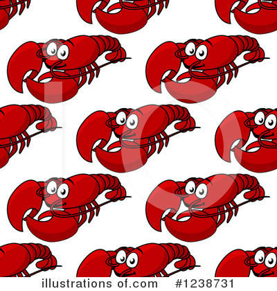 Lobster Clipart #1238731 by Vector Tradition SM