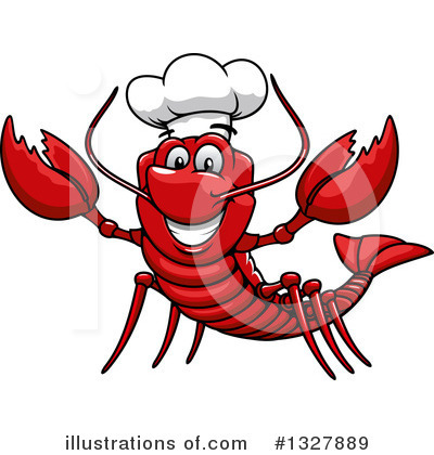 Lobster Clipart #1327889 by Vector Tradition SM