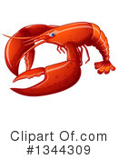 Lobster Clipart #1344309 by Graphics RF
