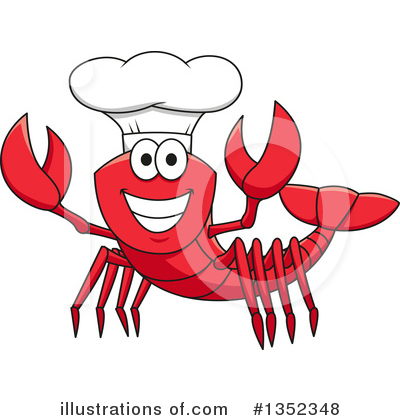 Lobster Clipart #1352348 by Vector Tradition SM