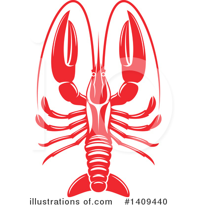 Lobster Clipart #1409440 by Vector Tradition SM