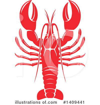 Lobster Clipart #1409441 by Vector Tradition SM